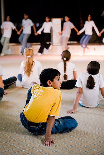 Young Boy at rehearsals by the Idbaa dance troop from the Dheisheh Refugee Camp in Palestine. Since being founded in 1994, the Ibdaa Cultural Centre has served more than 1,200 children and youth annually and provides employment and income for more than 70 families in the refugee camp. ©Dave Wyatt All Rights reserved