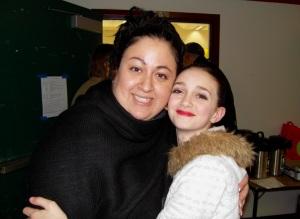 Mariangela and her budding ballerina